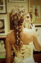 penteados trança com strass